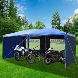 10x20 ft Canopy Carport Car Shed Shelter Outdoor Wood Haysta