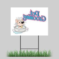 """12""""x18"""" Pet Supplies Store Yard Sign with Stake Outdoor Coro"""