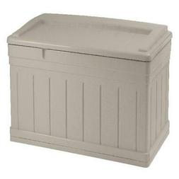 Suncast 129 Gallon Outdoor Resin Deck Storage Box with Seat,