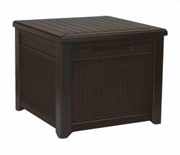 Keter 233705 55 Gallon Outdoor Rattan Style Storage Cube Pat