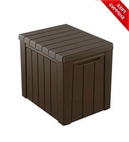 Keter 30-Gallon Resin Outdoor Deck Box/Storage Table Weather