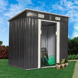 4 x 6FT Outdoor Storage Shed Tool House Box Steel Utility Ba