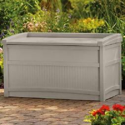Suncast 50 Gallon Outdoor Resin Deck Storage Box with Seat,