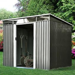 Outsunny 6.3'x7.8' Outdoor Garden Storage Shed Outside S
