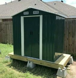6' x 4' Outdoor Storage Shed Kit Garden Backyard Toolshed Sl