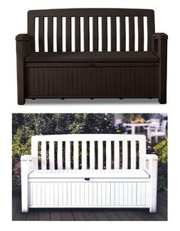 Keter 60 Gallon All Weather Outdoor Lockable Patio Storage B