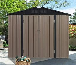 7'x6' Outdoor Steel Garden Storage Utility Tool Shed Large S