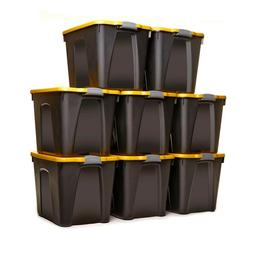8 Pack, Outdoor Storage Containers, 22 Gallon Storage Bins w