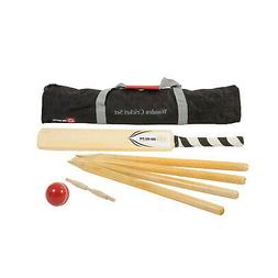 ART & ARTIFACT Wooden Cricket Set - Outdoor Lawn Game with P