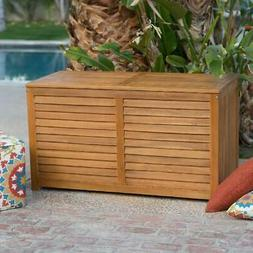 Coral Coast Atwood 90-Gallon Outdoor Wood Storage Deck Box