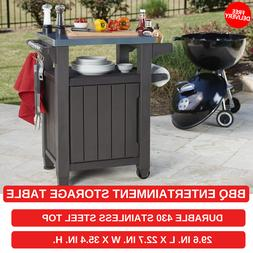 BBQ Entertainment Storage Table For Indoor And Outdoor With