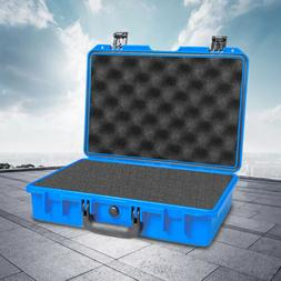 Blue Waterproof Outdoor Tool Box Container Storage Hard Carr