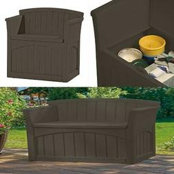 Brown Bench Storage Box Seat With Back For Kids Toys Shoe Pa