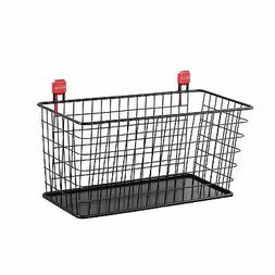 Rubbermaid Consumer Shed Accessories Large Wire Basket Black