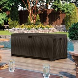 Suncast DBW7300 Resin Wicker Deck Box 73