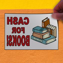 Decal Sticker Cash For Books Business Cash For Books Outdoor