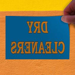 Decal Sticker Dry cleaners blue Business Dry Cleaners Outdoo