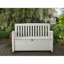 Durable Waterproof Bench Box With Back For Patio Garden Ou