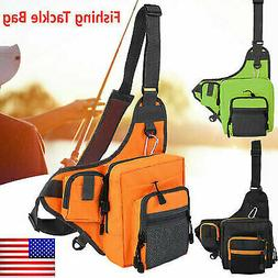Fly Fishing Sling Back Pack Outdoor Fishing Tackle Shoulder
