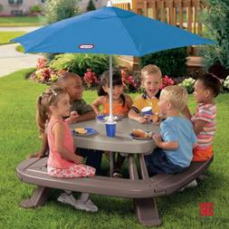 Little Tikes Fold & Store Outdoor Picnic Lunch Table w/ Umbr