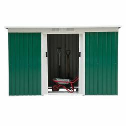9'x4' Outdoor Garden Storage Shed All Weather Steel Garage T