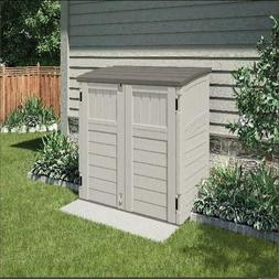 Horizontal Outdoor Storage Shed, Vanilla and Stoney, 34 Cubi