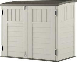 Horizontal Utility Shed Garden Outdoor Tool Storage Cabinet