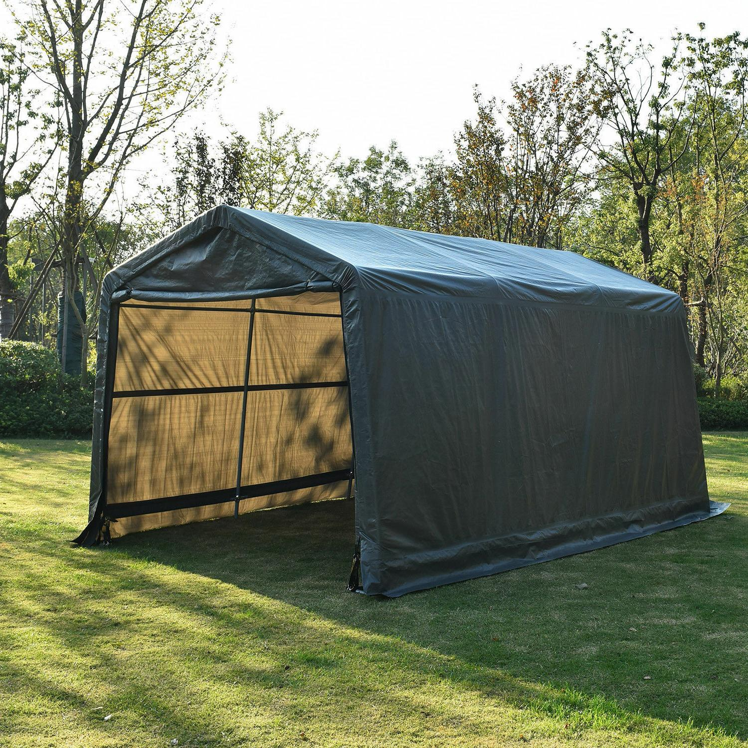 10 15ft outdoor carport canopy portable shelter
