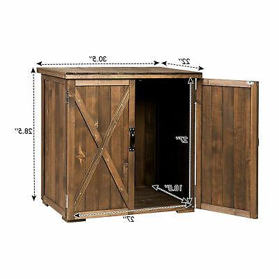 2.5 2 Outdoor Wooden Shed Cabinet Double for Garden