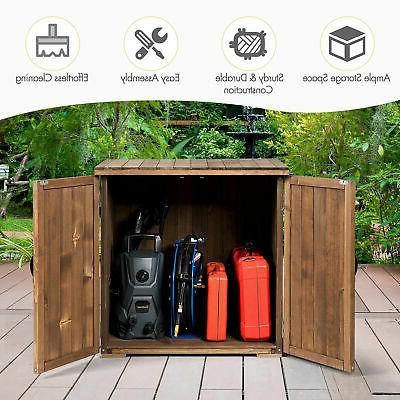 2.5 X Ft Outdoor Wooden Shed Cabinet W/ Double for