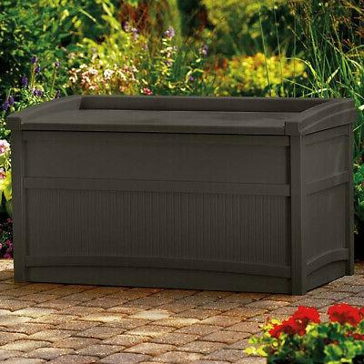 50 Storage Bench Box Garden Deck Brown
