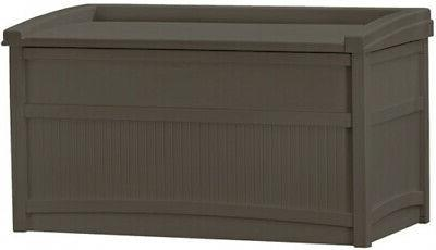 50 gallon outdoor storage bench patio box