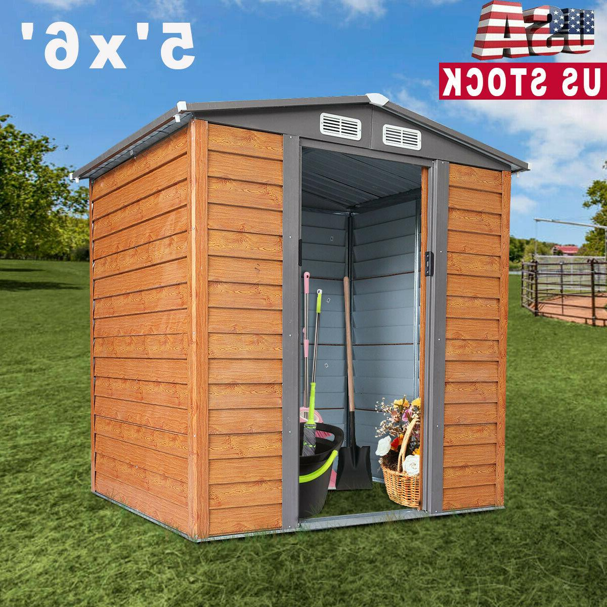 5x6 ft outdoor garden storage shed tool