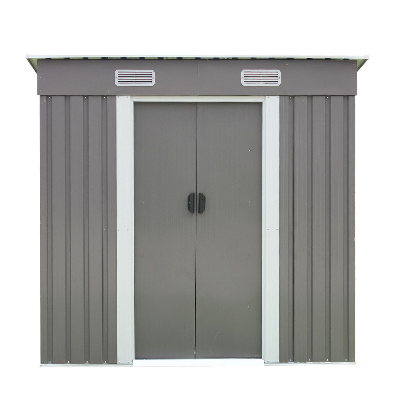 6' Storage Utility Shed Tool Lawn Gray