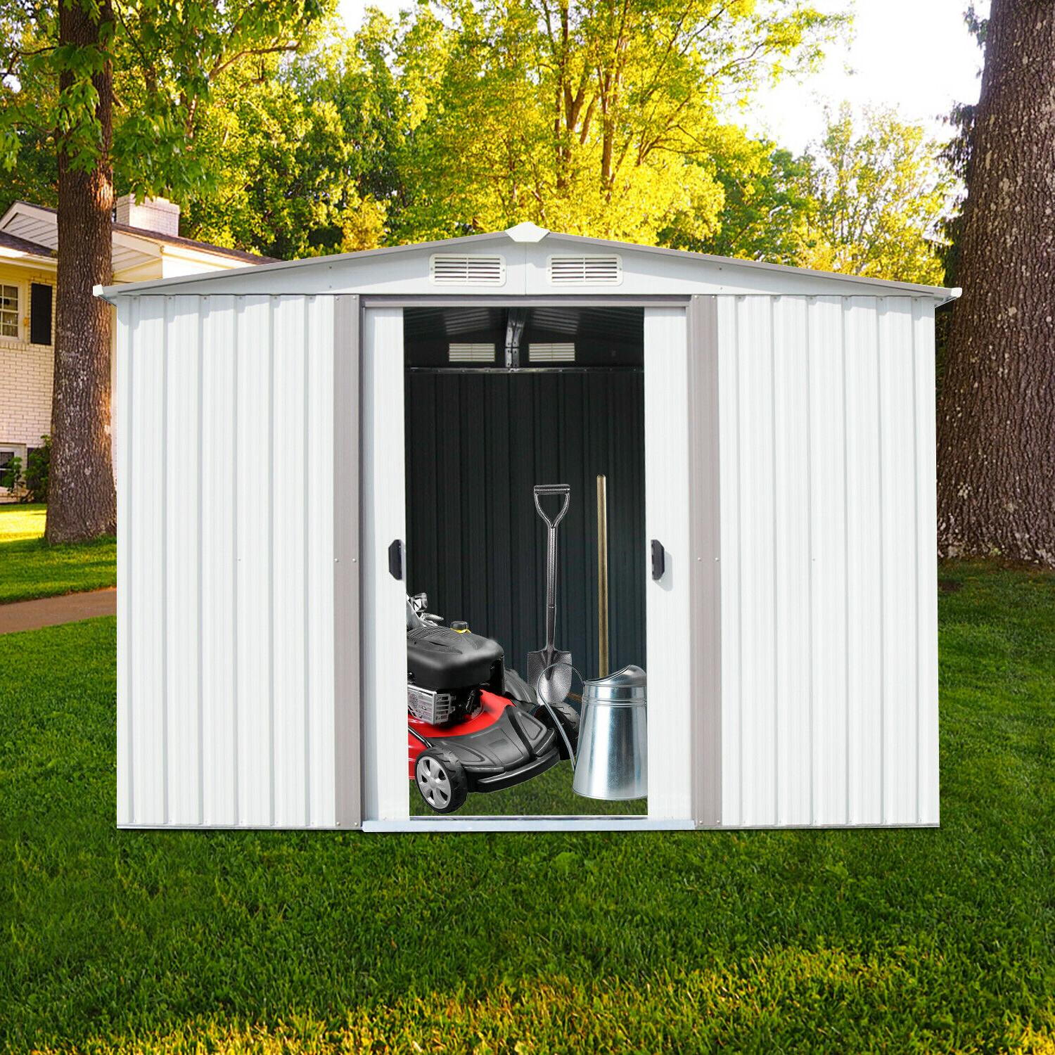 8'x6' Outdoor Storage Waterproof Toolshed Lawn