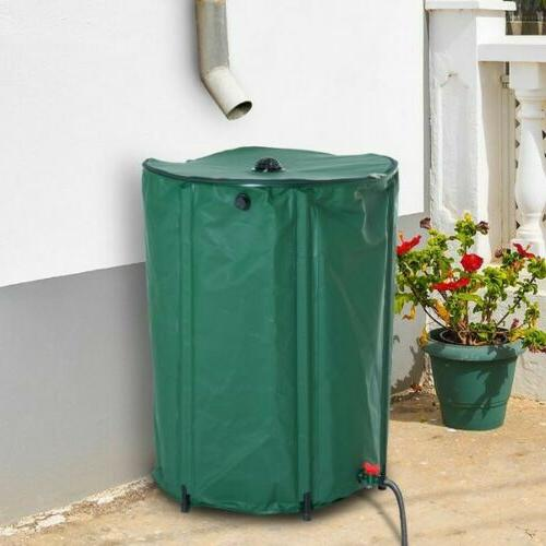 80 Gallon Rain Barrel Folding Portable Water Collection Tank