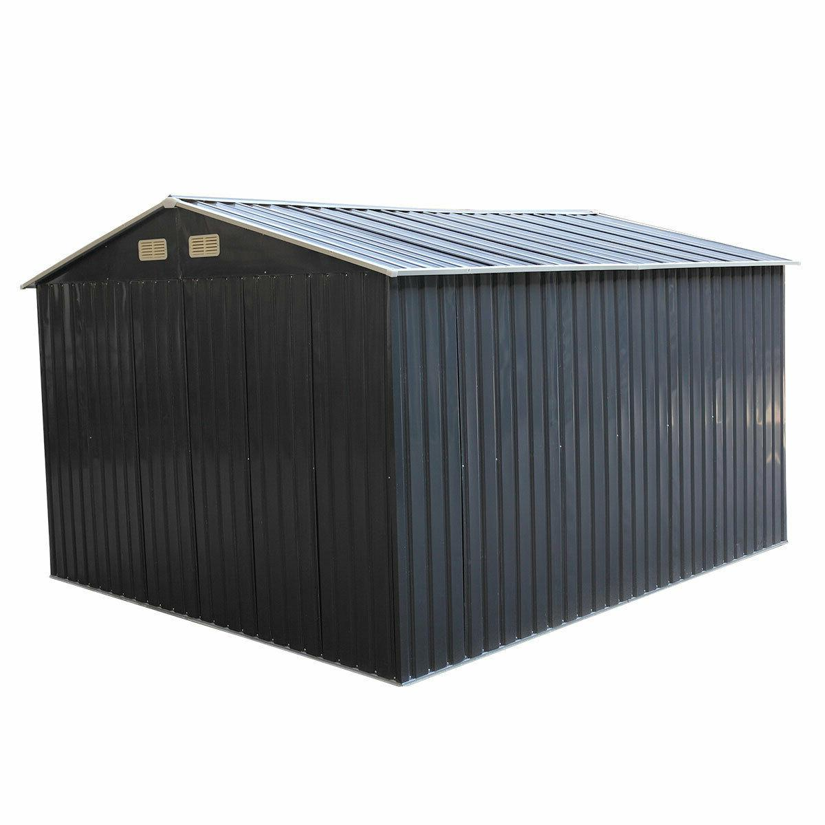9.1x10.5ft Outdoor Storage Shed House Sliding