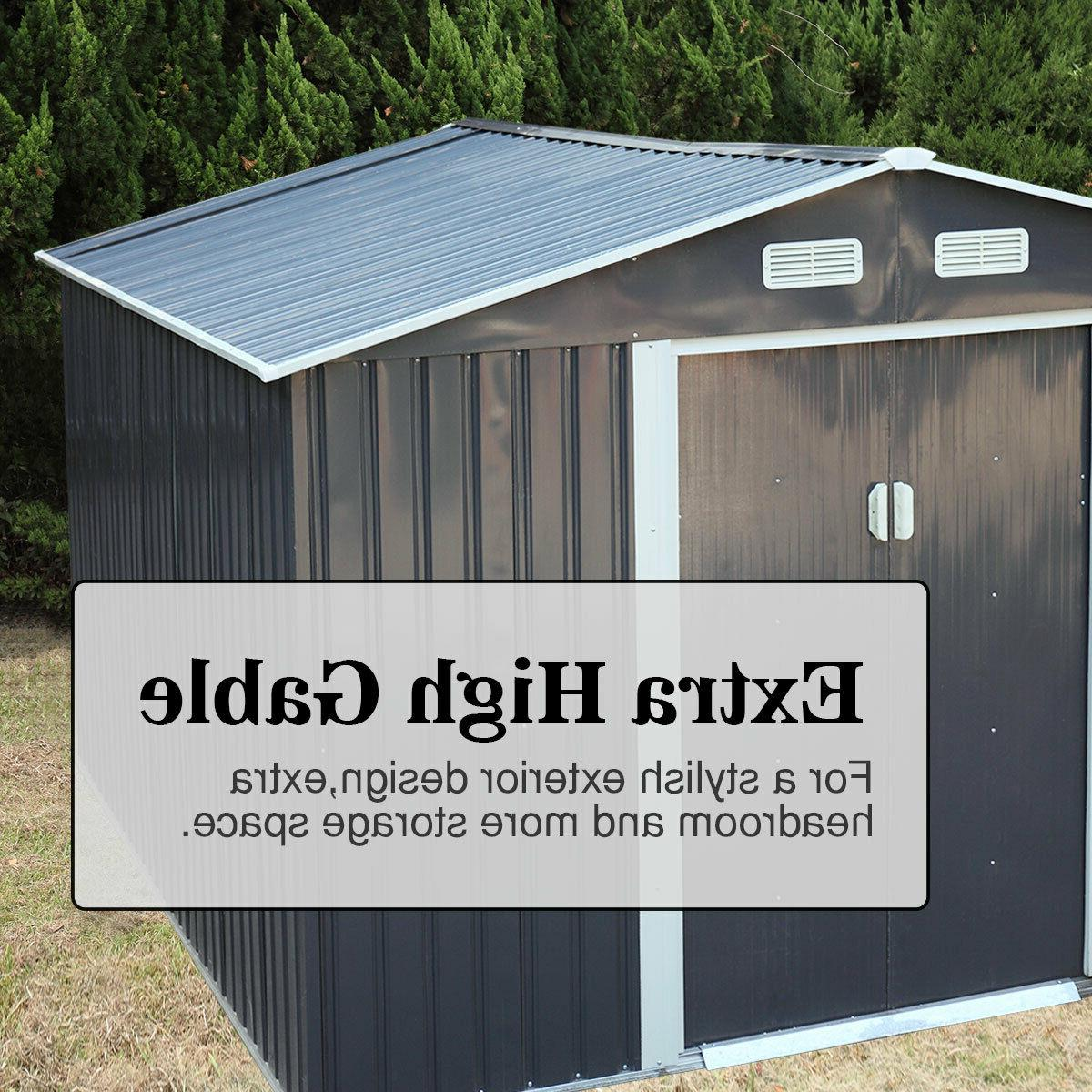 9.1x10.5ft Garden Shed Backyard Lawn House Sliding