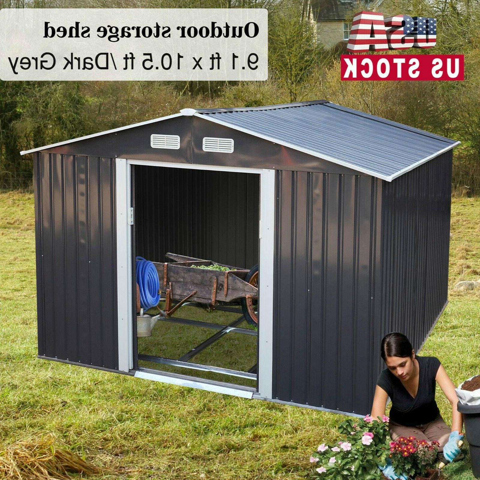 9 1x10 5ft outdoor garden storage shed