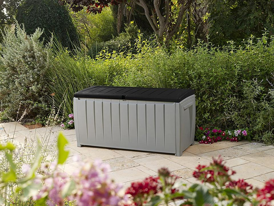 Keter 90 Gallon Storage Box Patio New Outdoor Plastic Container