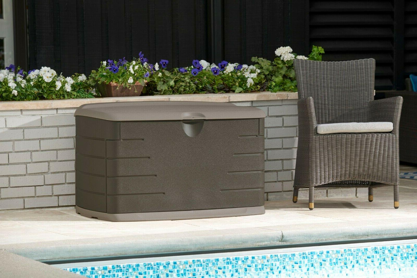 90 Resin Grill Deck Storage Bin with