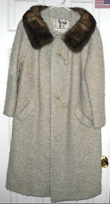 BEIGE BOUCLE COAT Youthcraft via Kings Department Store <sz