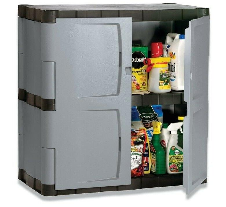 Rubbermaid Double-Door Storage Cabinet - Base, 36w x 18d x 3