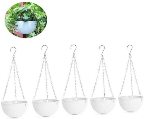 Hanging Planters Set of 5 Flower Pots Outdoor Planting or St
