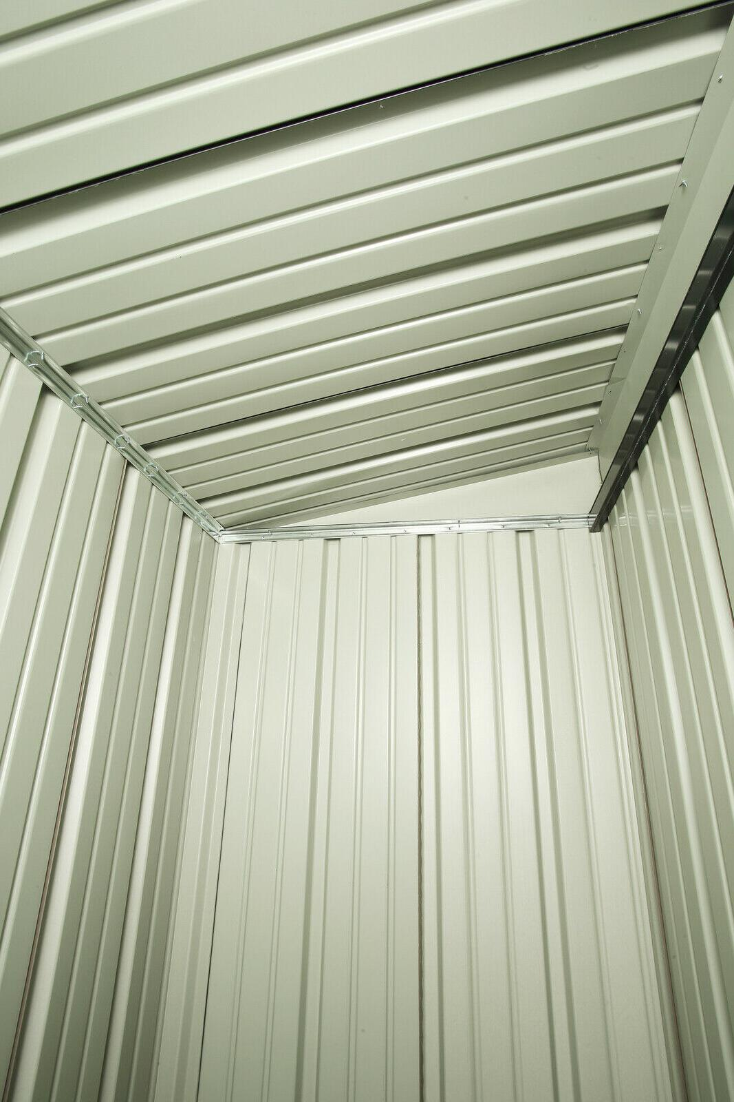 Outdoor Storage Utility Metal Storage Shed Sloped Roof