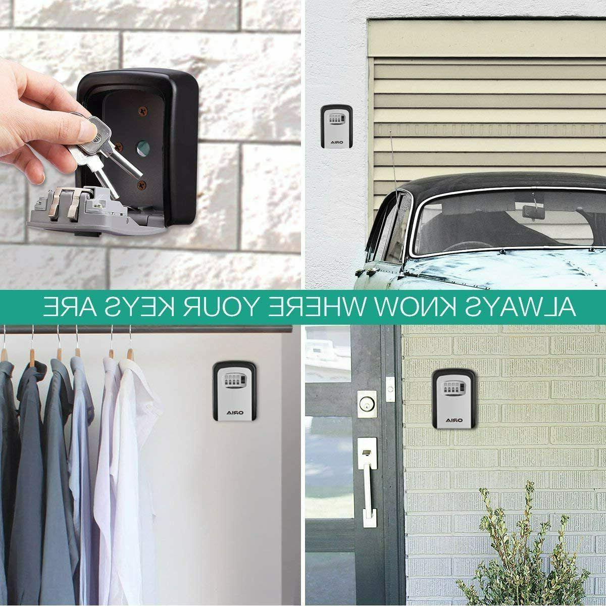 Outdoor Key Safe Box Key with Digit Combination Security