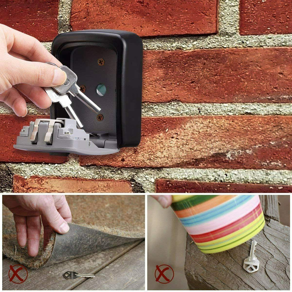 Outdoor Key Box Key with 4 Security Code