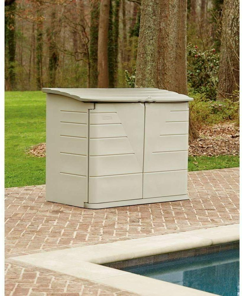 Rubbermaid Outdoor Storage for Frame Above Pool