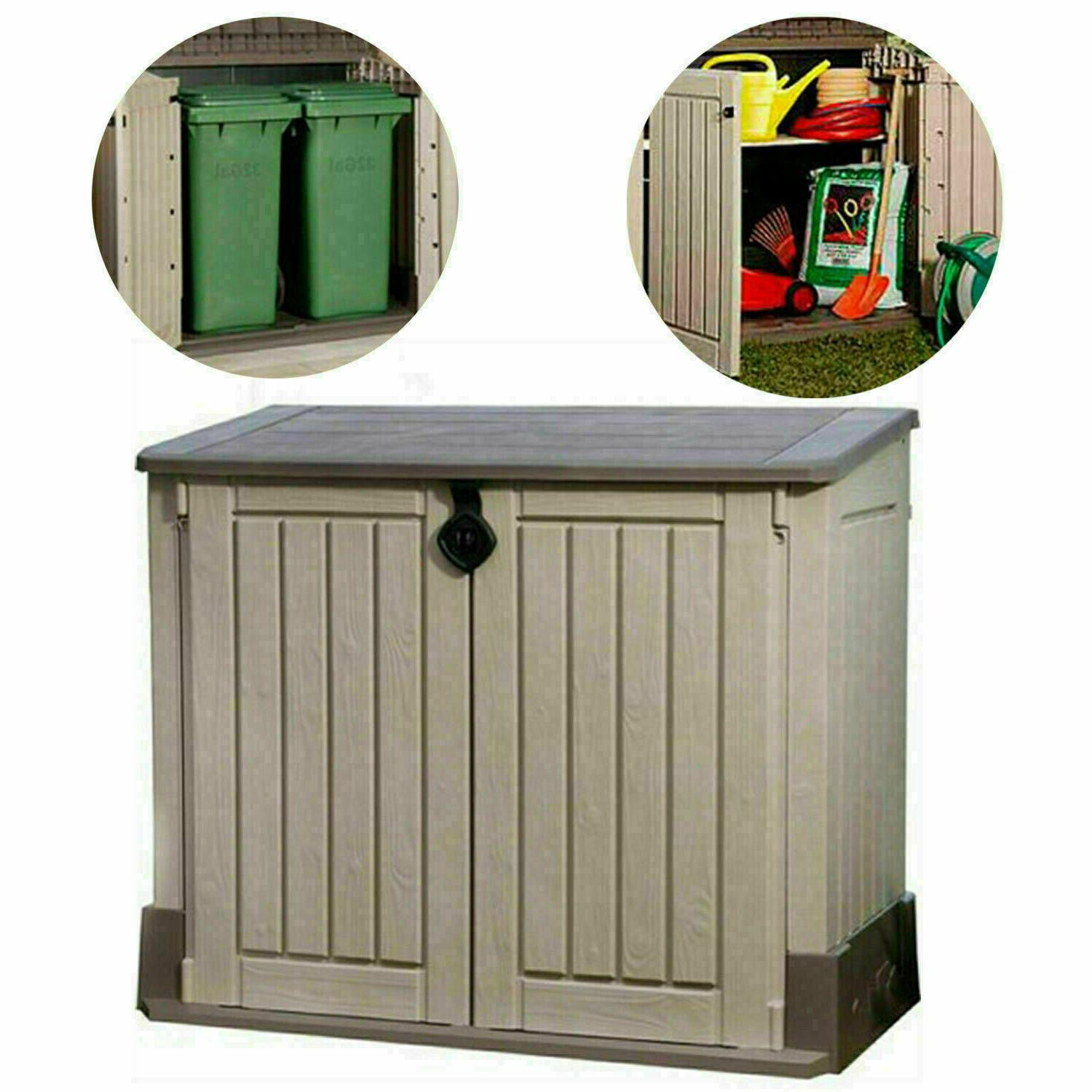 Outdoor Storage Shed Plastic Garden Cabinet All Utility