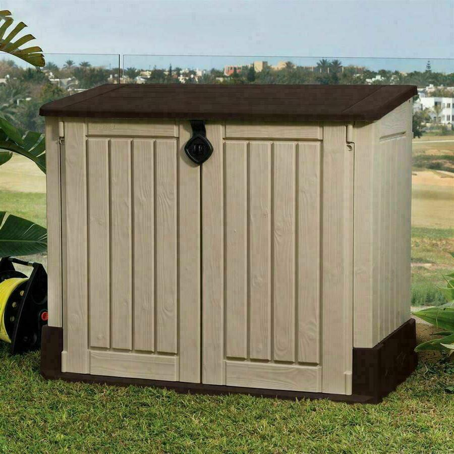 Outdoor Shed Plastic Garden Cabinet Utility Box
